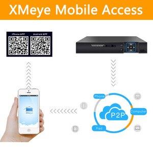 Image 4 - 5m n 5 em 1 4ch ahd/tvi/cvi/cvbs/ip dvr segurança cctv gravador de vídeo p2p vga hdmi para câmera ip xmeye