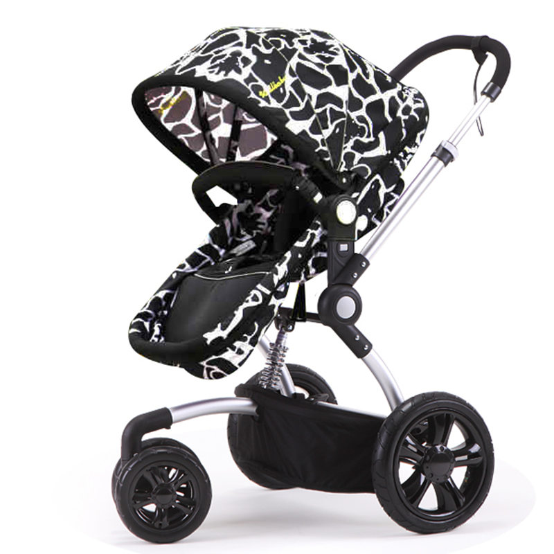 Fashion Folding Baby Stroller Stroller Baby, Light Suspension Pram Pushchair, Gold/Silver/Black 3 Color Frame Pneumatic Wheels зонты