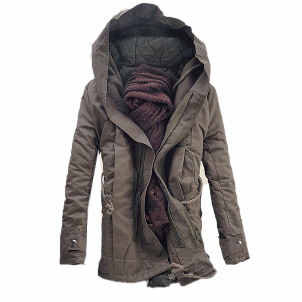 Mens Coats Fashion winter warm men   parka   coat men's hooded jacket coats casual thick cotton padded zipper closed jaqueta   parkas