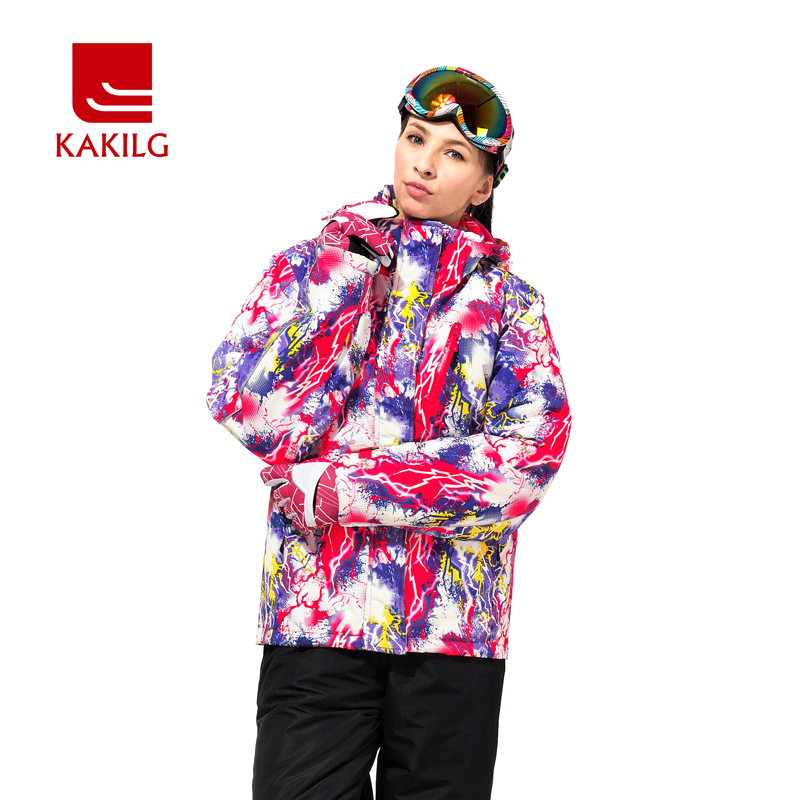 ФОТО 2017 Winter Jacket Women Ski Clothes Windproof Waterproof Women's Autumn Hooide Coat Skiing Snowboard Sports For Feminine KL708