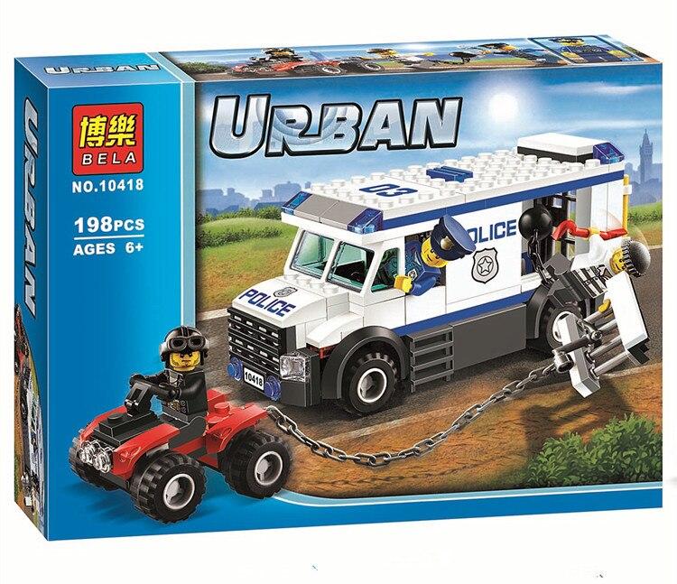 198pcs Prisoner Transporter Car Police Set Building Bricks Blocks Toy Gift Compatible With Lego City 60043 Compatible With Lego Police Setbrick Block Aliexpress