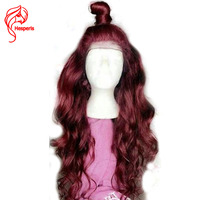 Hesperis Human Hair Full Lace Wigs Burgundy Lace Wigs Pre Plucked Brazlian Remy Hair Lace Wigs Glueless Full Lace Wigs Red 99J
