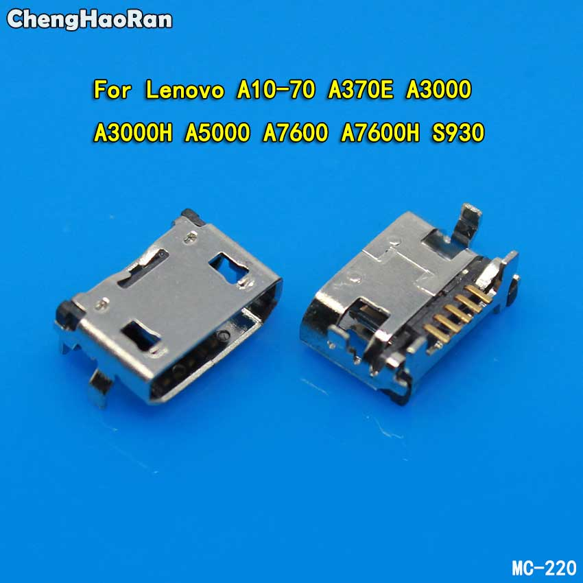 ChengHaoRan Micro USB Port Jack Connector For Lenovo A10-70 A370E A3000 A3000H A5000 A7600 A7600H S930 Data Sync Charging Socket