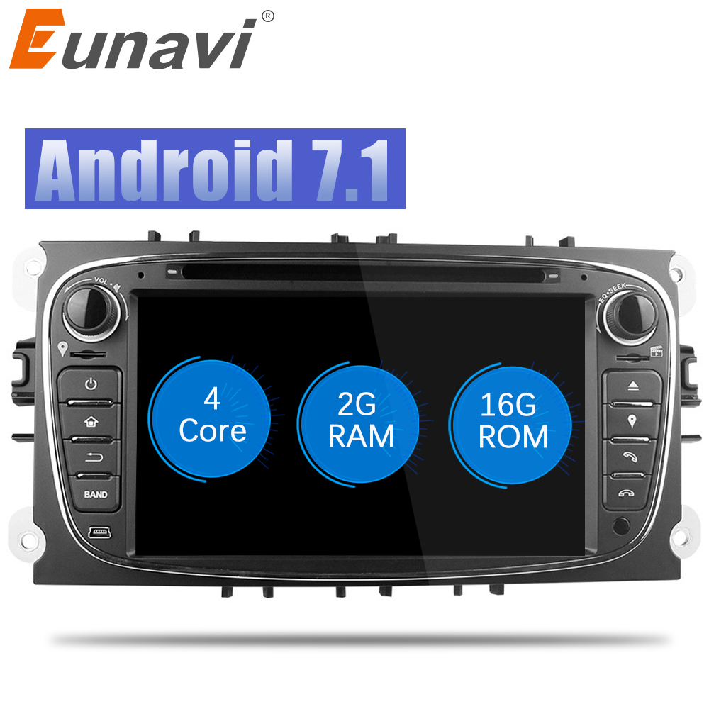 eunavi quad core 2g ram android 7 1 2 din car dvd player. Black Bedroom Furniture Sets. Home Design Ideas