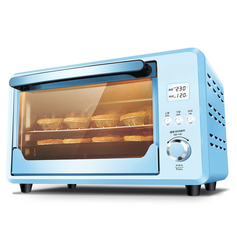 DMWD 25L Mini Automatic Electric Oven Multifunctional Cake Bread Toasters Pizza Baking Machine Blue 1500W 220V 220v multifunctional 9l electric baking oven mini household pizza cake bread baker oven eu us bs plug