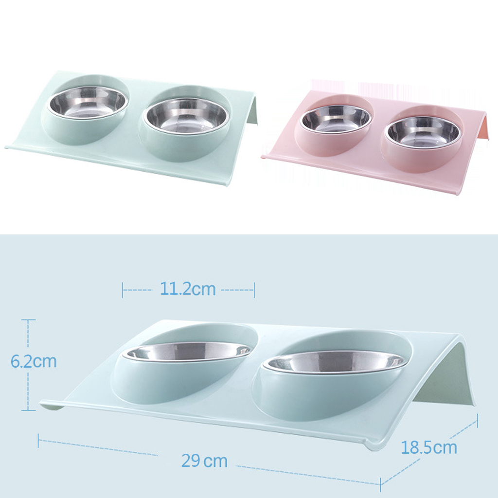 Thicken Pet Food Bowl Stainless Steel Double Pet Bowls Food Water Feeder for Dog Puppy Cats Pets Supplies Feeding Dishes 7