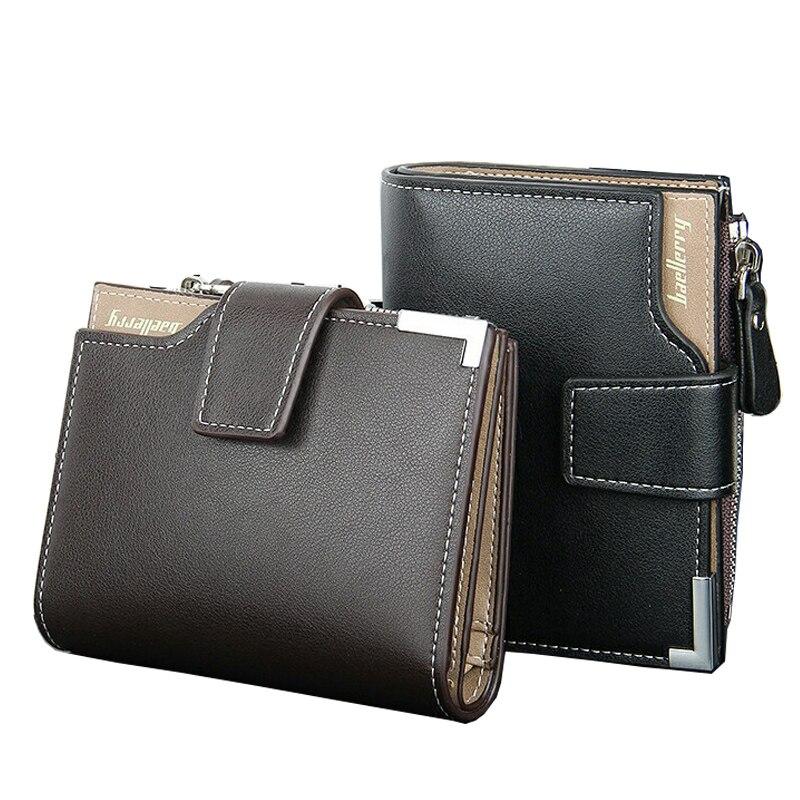2017 New Genuine Leather Brand Mens Wallet Multifunctional Short Design Cowskin Men Wallet Zipper Coin Purse Card Holder K19