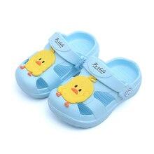 Summer Slippers Boys Girls Kids Children Barefoot Shoes Cute Ducks Beach Sandals Toddlers 2019 Fashion