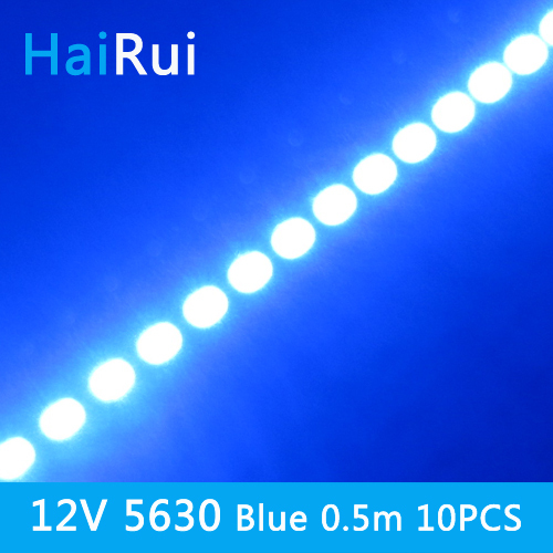10pcs*50cm Factory Wholesale High Bright DC 12V 36 SMD 5630 LED Hard Rigid  Strip Bar Light  Red Blue Green Color