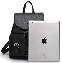Women Leather Backpack Black Large Travel Bag