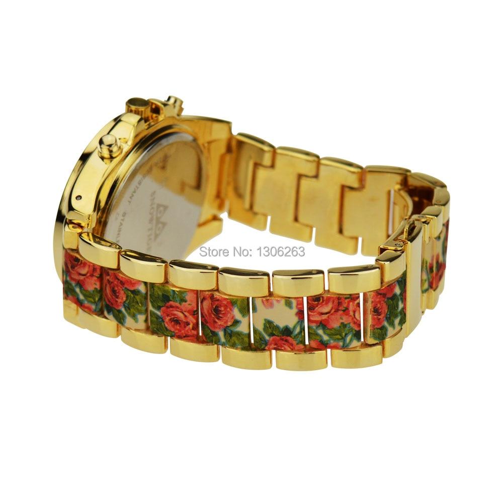 2016 Nowa znana marka złota Casual Genewa Zegarek kwarcowy kobiety - Męskie zegarki - Zdjęcie 4