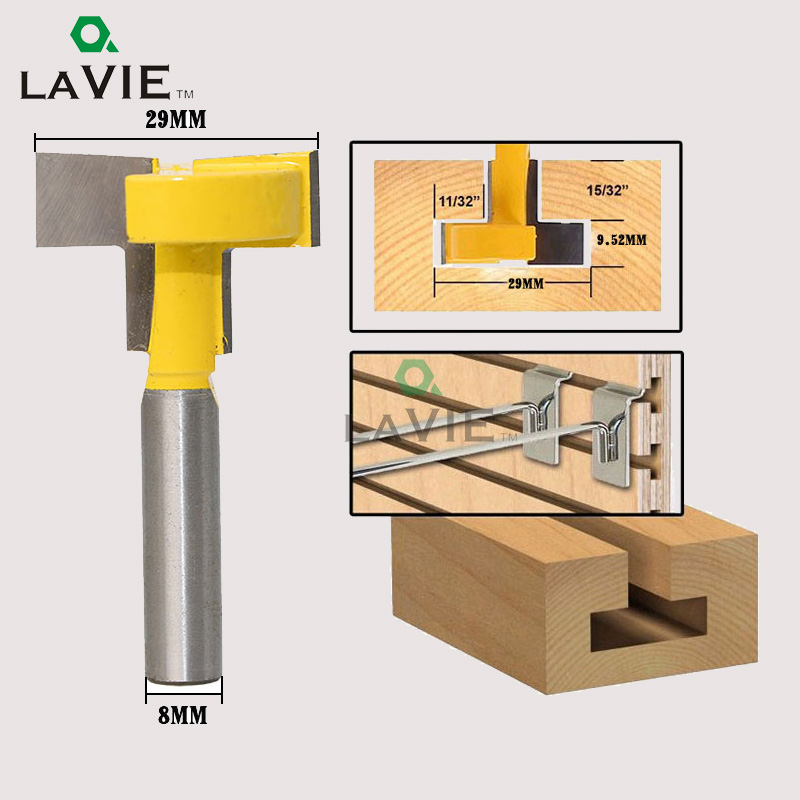 LA VIE 8mm Shank T-Slot Milling Straight Edge Slotting Knife Cutter Router Bits Cutting Handle for Wood working MC02001 cutting edge elementary workbook