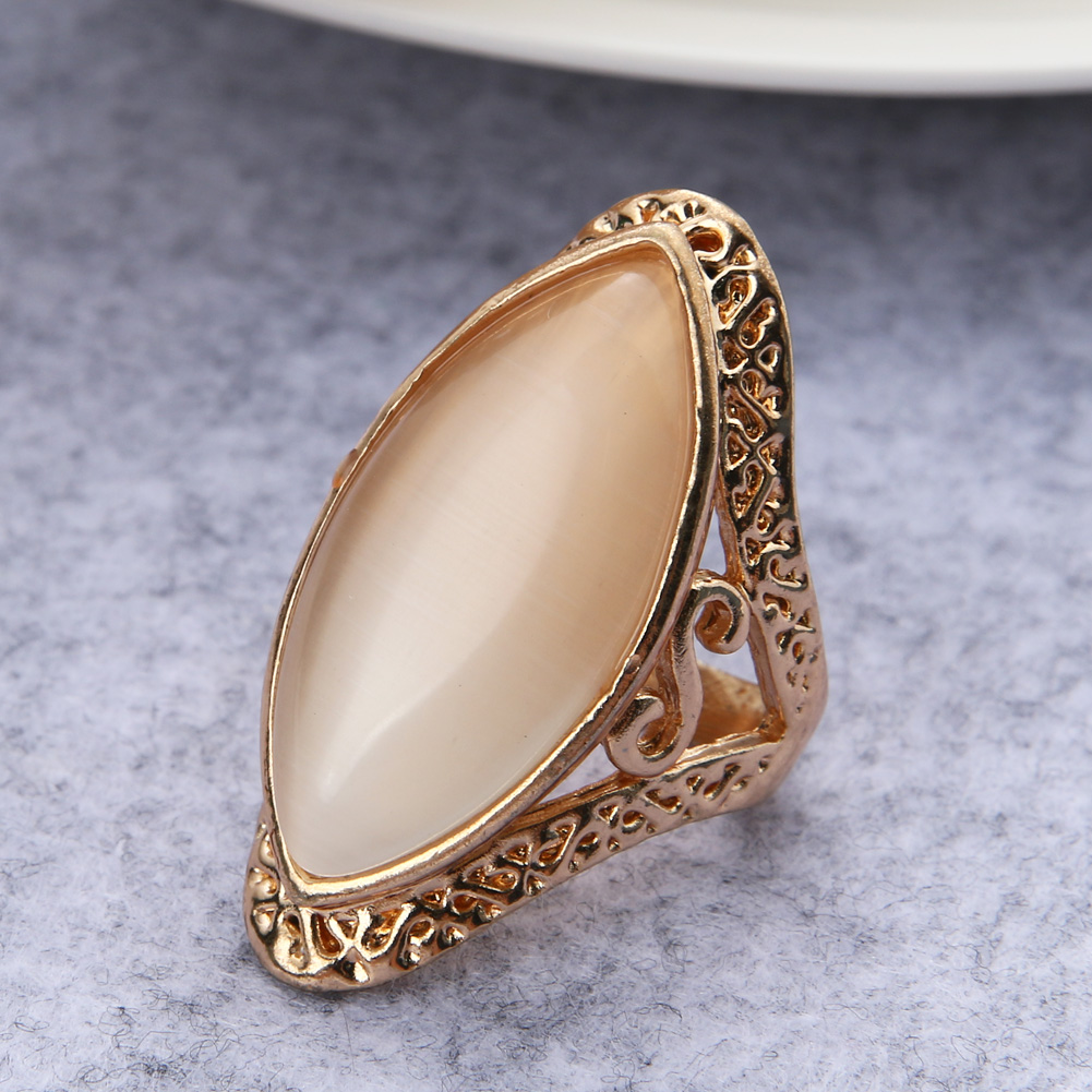 Fashion Ring Hollow Out Carving Oval Big