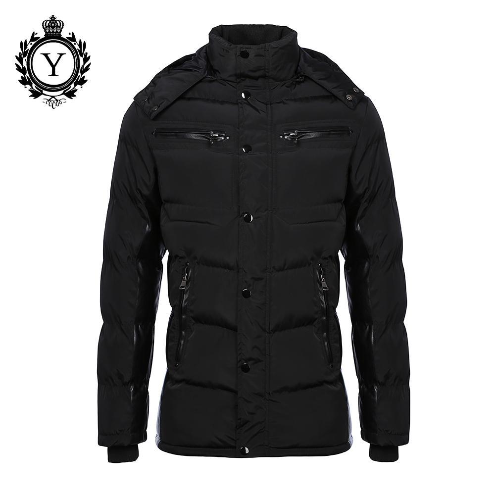 ФОТО COUTUDI 2016 Down Parka Mens Warm Thick Hooded Winter Parka Jacket Solid Black Polyester Long Waterproof Parkas Men High Quality