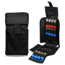 Pungi de vânătoare Vapanda Curea de cartușe din nailon negru 12GA 12 Ammo Magazine Pouch Holder Molle Shotshell Cartridge Belt 12 Gauge
