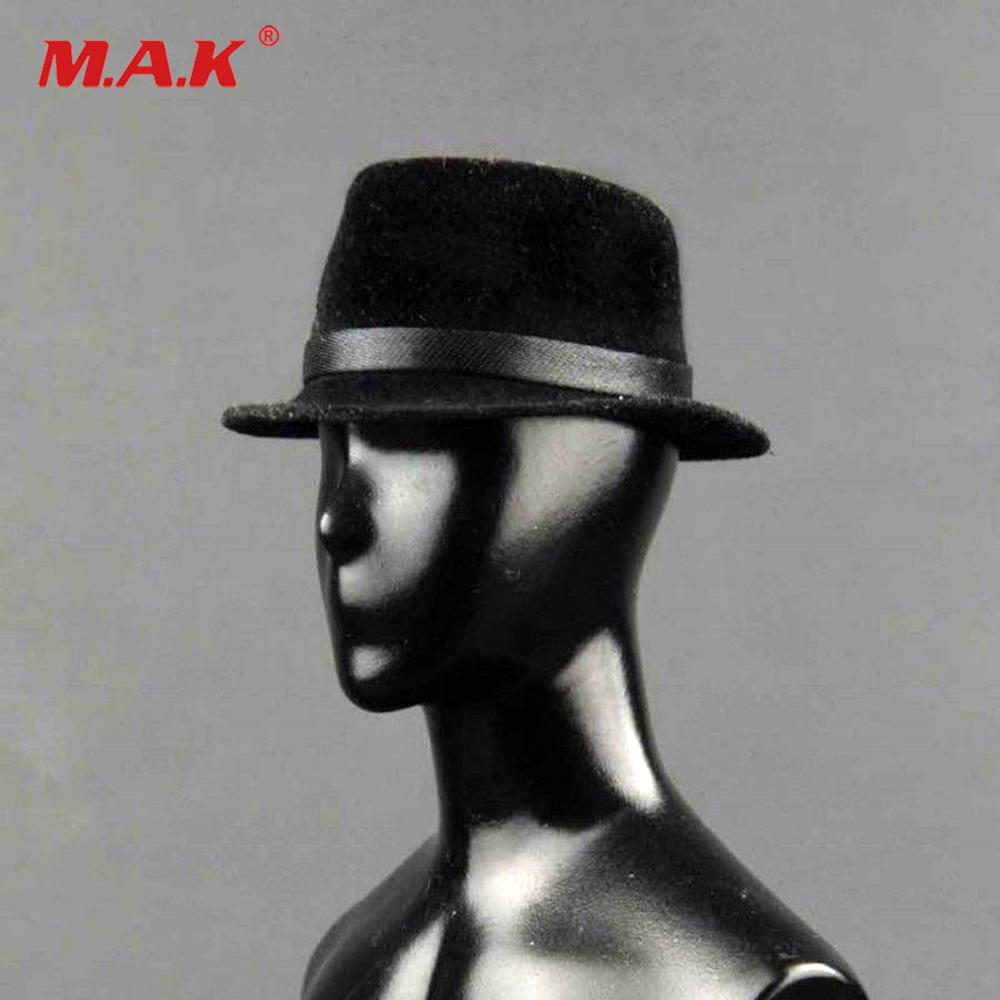Hot Toys 1 6 Scale Male Black Hat Fashion Formal Hat Model 1 6 Scale Soldier Hat ZYTOYS ZY5008 in Action Toy Figures from Toys Hobbies