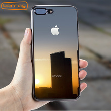 TORRAS for iphone 7 8 luxury case coque silicon tpu transparent phone cover for iphone 7 8 plus soft shockproof cases capa new