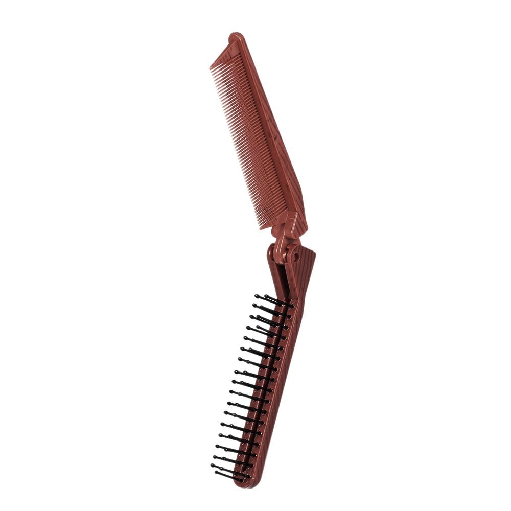 Foldable Hair Comb barber accessories Brush Anti-static Hairbrush Portable Travel  Plastic Folding Detangling Hairdressing Styli