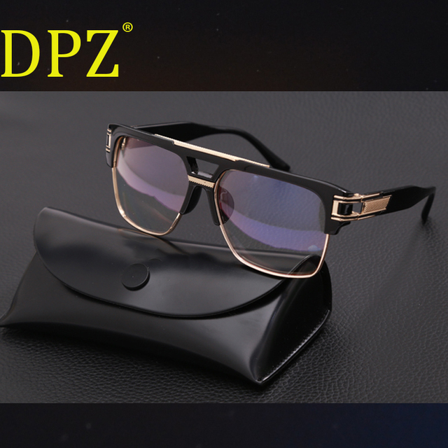 95c398223 DPZ hot-selling steampunk double-beam men sunglasses Women retro square  MACH High quality
