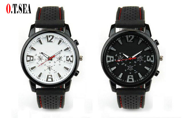 Top Quality Pilot Aviator Army Silicone watch Men Military fashion Casual Sport Quartz Wrist Watch Relogio Masculino HAI