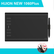 Huion 1060 Plus Graphic Drawing Digital Tablet w/ Card Reader 8G SD Card 5080 LPI 12 Express Key 16 Software Key Glove as gift