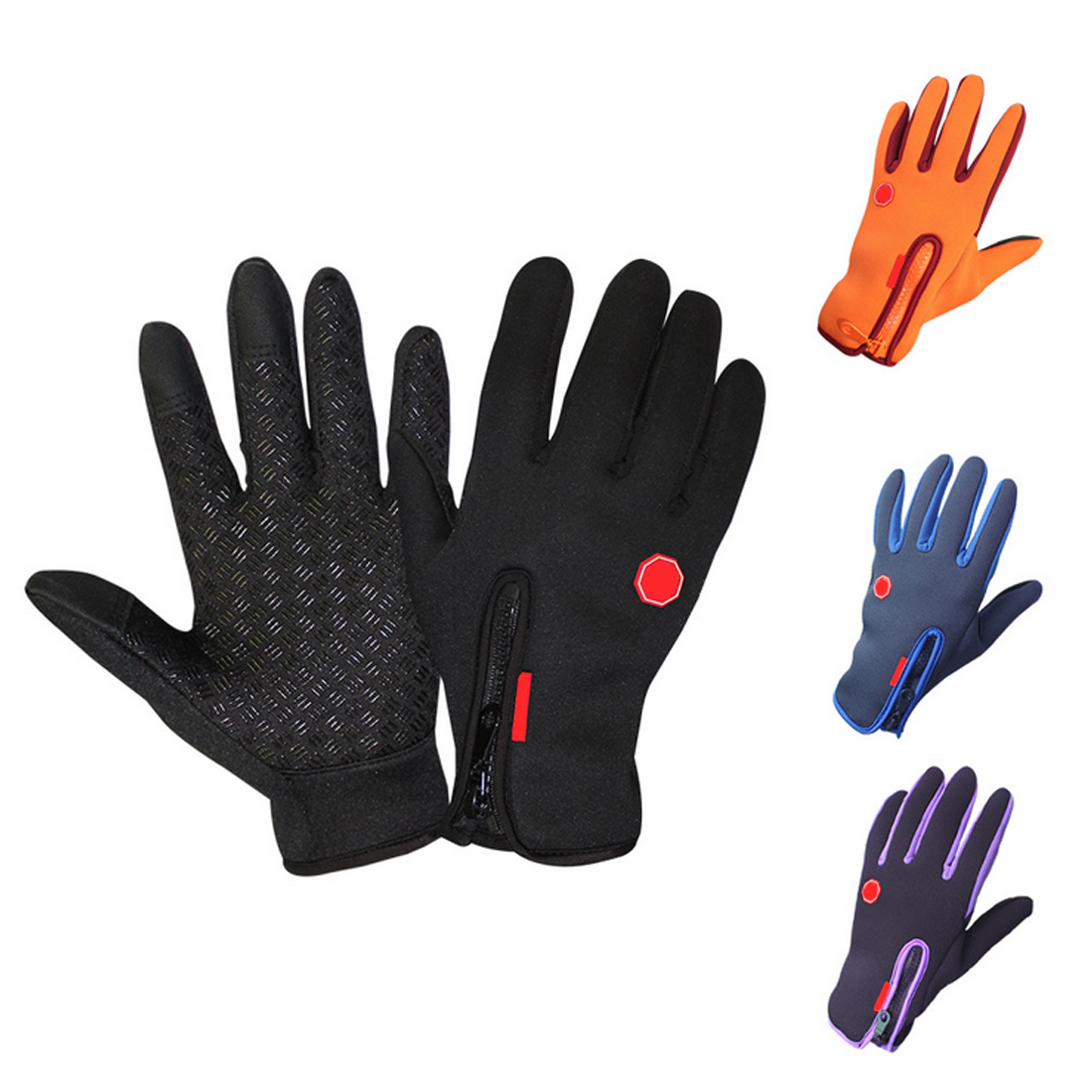 CAR-partment New Motorcycle Gloves Windstopper Full Finger Ski Gloves Warm Riding Glove Outdoor Sports S M L XL Size scoyco a012 xl sporty full finger motorcycle gloves black red pair size xl