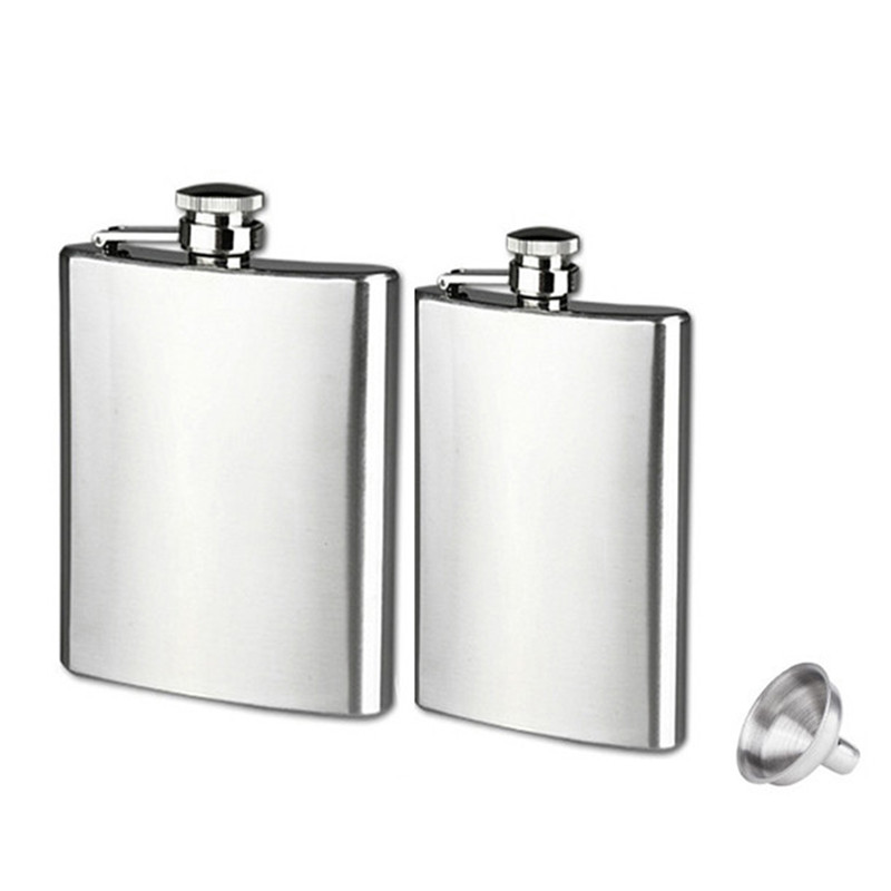 Mossy Oak Elements 6oz Stainless Steel Hip Flask Red