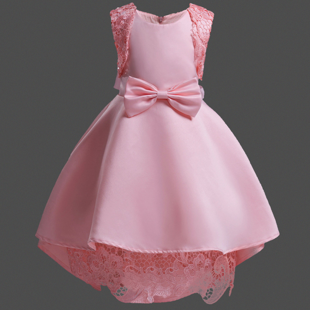 Bayi Perempuan Gaun Pesta Anak Anak Renda Putri Gaun Sutra Satin
