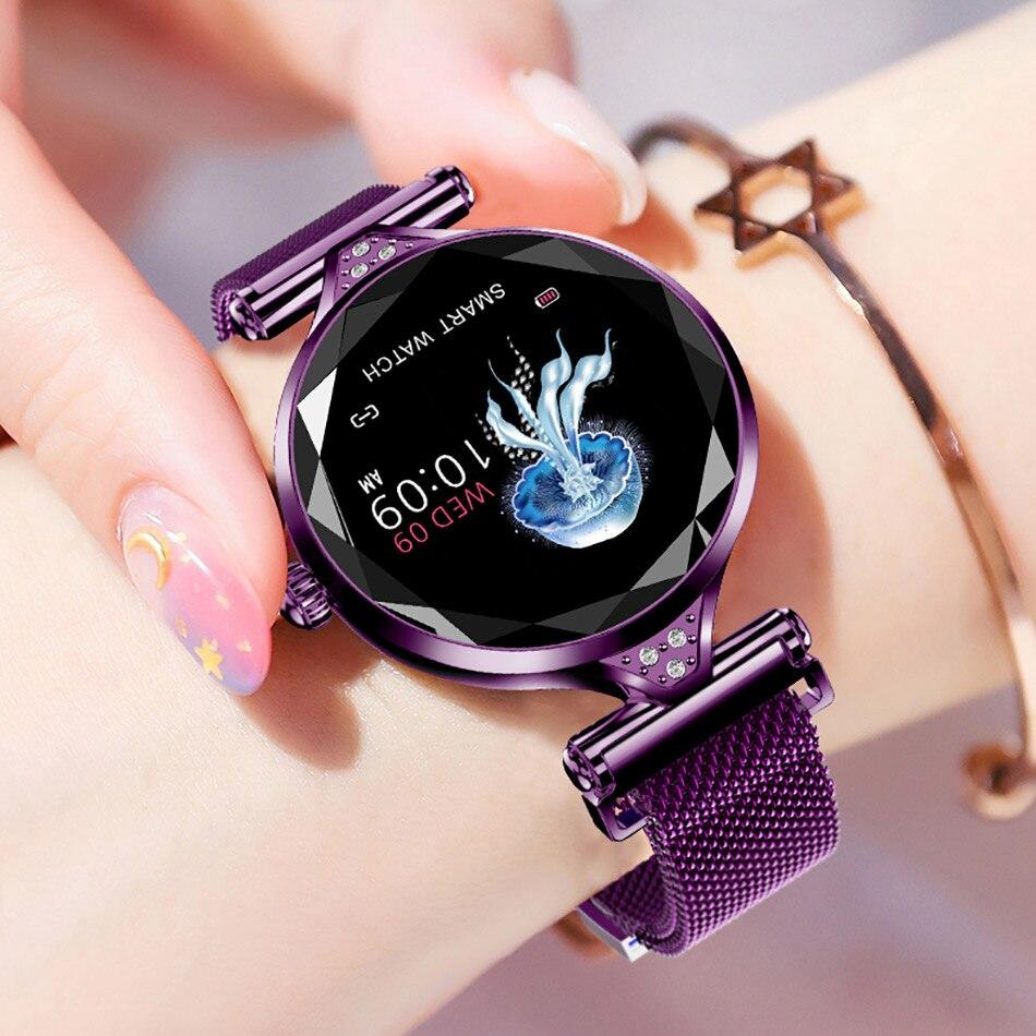 H1 montre intelligente mode Femmes Lady Podomètre traqueur de remise en forme moniteur de fréquence cardiaque Smartwatch Femme Fille Bracelet Pour Android IOS