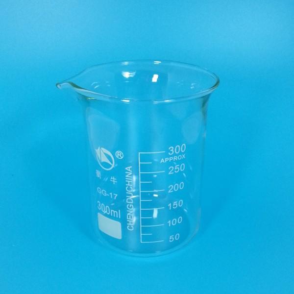 300 мл лаборатория посуда из стекла стекло м стакан, низкая форма, зануда-кремнезема. 3, 3, тяжёлый стена