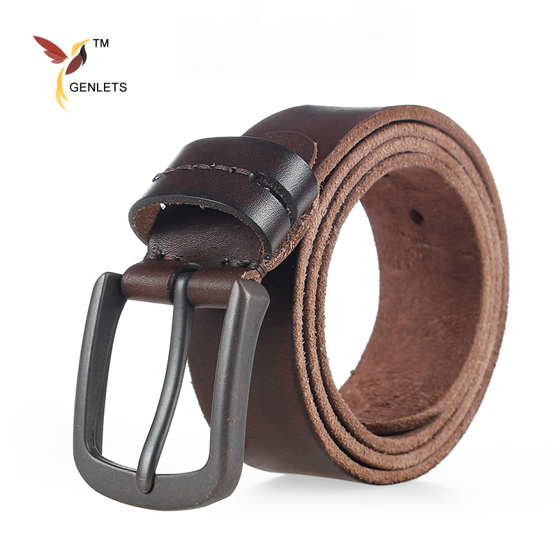 luxury brand mens leather belt jean belts genuine leather buckle strap men washed thong fashion design width thong
