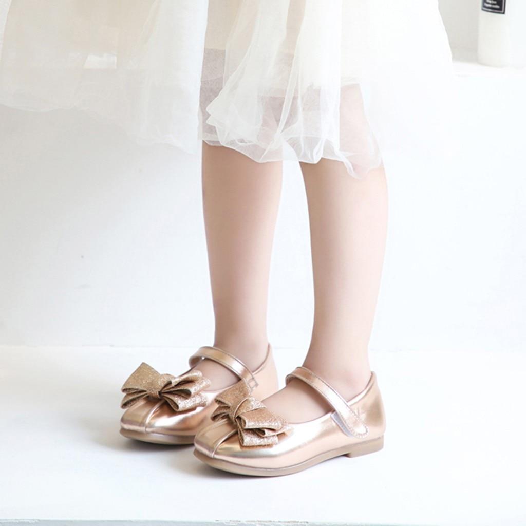 Flor De Niñas Mary Para Zapatos Arco Princesa Cuero Jane 7yYb6gvf