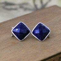 Hot Sale Women Beautiful Sky Blue Sandstone Stars Earrings S925 Sterling Silver Earrings Women Elegant Pearl S925 Silver Earring