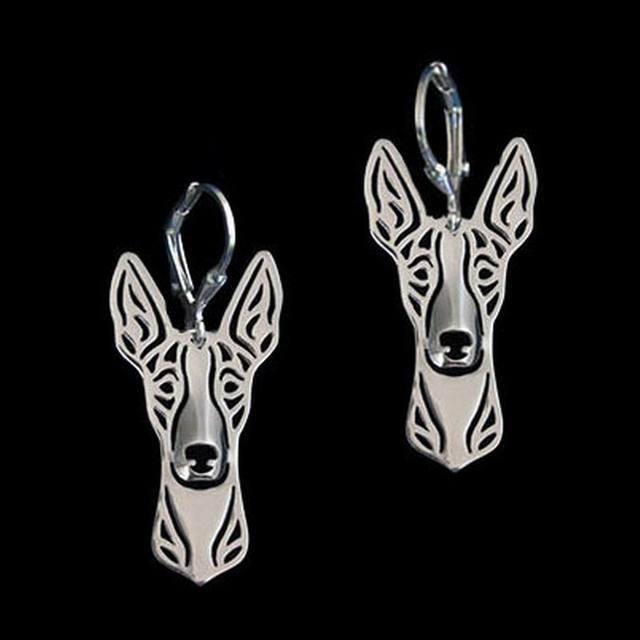 2018 Fashion Women S Alloy Ibizan Hound Earrings Jewelry Gold Dog Drop Shipping