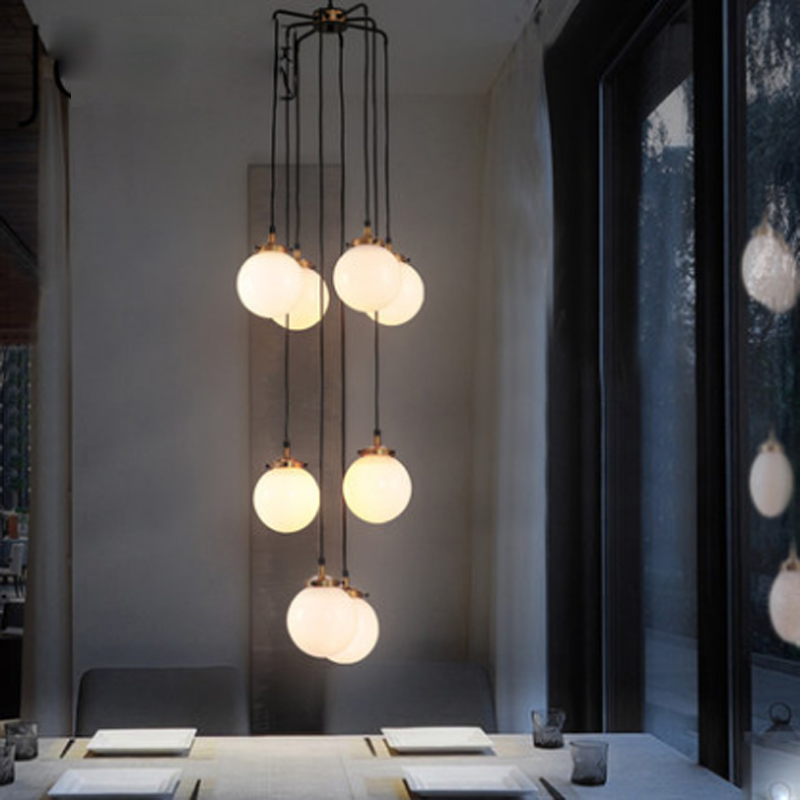 Post-modern Led Novelty Chandelier Nordic Fixtures Glass Ball Illumination Living Room Hanging Lights Restaurant Suspended Lamps High Quality And Inexpensive Lights & Lighting