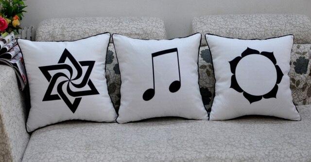 Ikea Stylish Black And White Sofa Cushion Backrest Pillow Lumbar Sleeping Car With Core Automotive