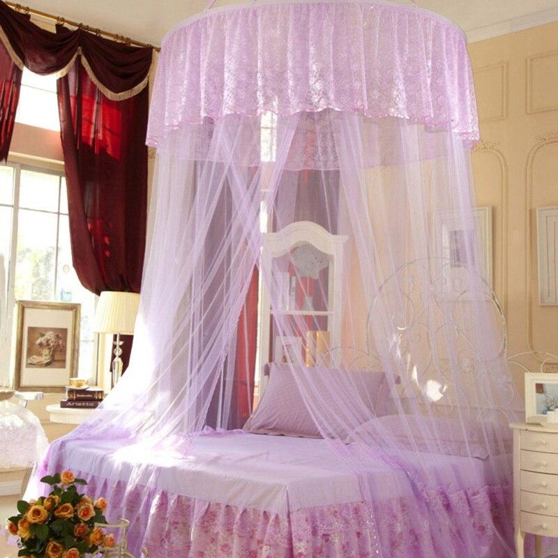 superventas de la princesa mosquitera canopy bed cama dosel de encaje cortinas hung dome mosquitera para