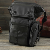 Men Waterproof Casual Fashion Waist Fanny Pack Ride Leg Bag Nylon Shoulder Messenger Crossbody Small Cell
