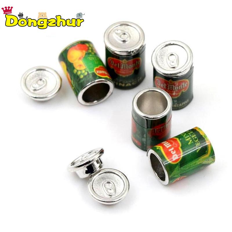 Dongzhur 5Pc <font><b>1</b></font>:<font><b>12</b></font> <font><b>Doll</b></font> <font><b>House</b></font> <font><b>Accessories</b></font> Mini Canned Fruit 5 Cans Miniature Food Play Kitchen <font><b>Doll</b></font> Food <font><b>Accessories</b></font> Toy image
