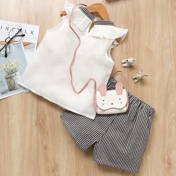 Girls Clothing Sets 2019 Brand Summer Fashion Chiffon short sleeve T-shirt + shorts Infant girls outfits kids clothes roupa infa 5