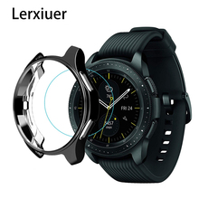 Cover for Samsung Galaxy Watch 46mm 42mm case galss Gear S3 frontier bumper soft smart watch accessories plated protective shell цена