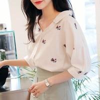 Embroidery Blouse White Shirt Women Tops Cotton Blouses Shirts Blusas Mujer De Moda 2017 Plus Size
