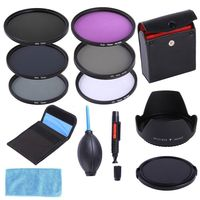 72mm CPL UV FLD ND8 4 2 Filter Kit Lens Hood Cap For Canon Nikon Sigma