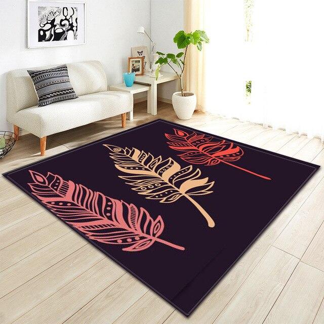 Feder Ethnische Stil Moderne Teppich Wohnzimmer Kuche Halle Matte Kinder Zimmer Grosse Teppiche Parlor Weichen Sofa Tapetes