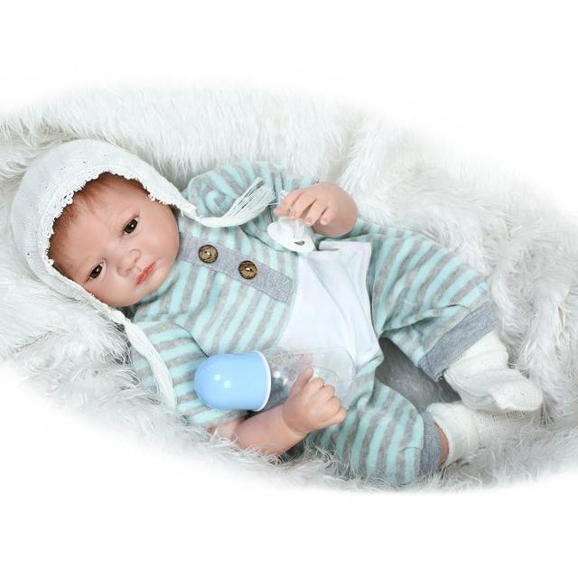 Real human hair reborn babies dolls full body silicone