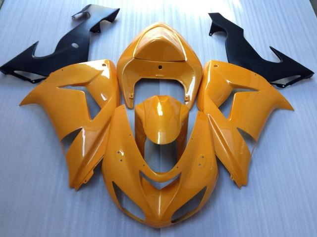 New Hot Moto Parts Fairing Kit For Kawasaki Ninja Zx10r 06 07 Yellow
