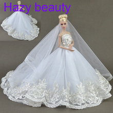 Hazy beauty High quality Handmade Gifts For Girls Slim Evening Suit Wedding Dress Clothes For Barbie