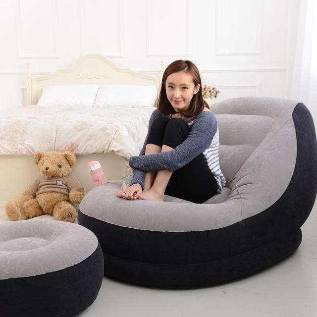 New 2015 Flocked Inflatable Sofa Bed people creative cute
