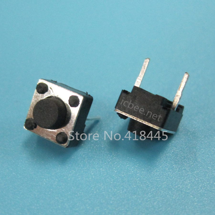 1000PCS/LOT B3F Tact Switch 2Pin DIP 6x6x4.3 6x6x5 6/7/8/9/10/11/12/13 push button switch RoHS High Quality 260gf for toy diy