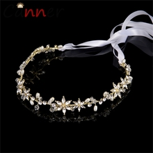 CANNER Romantic Baroque Headband Crystal/Pearl Flower Wedding Hairband Rhinestone Hair Jewelry Bridal Hair Accessories FI